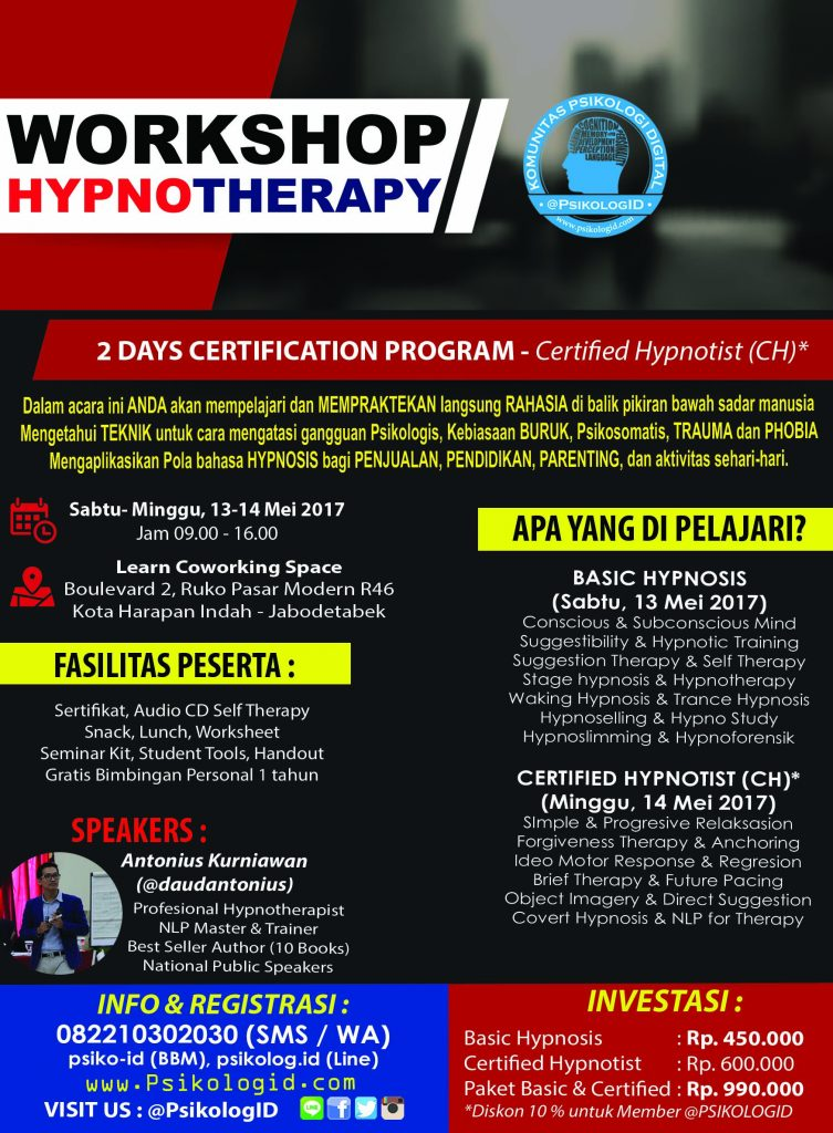 Workshop Hypnotherapy Certified