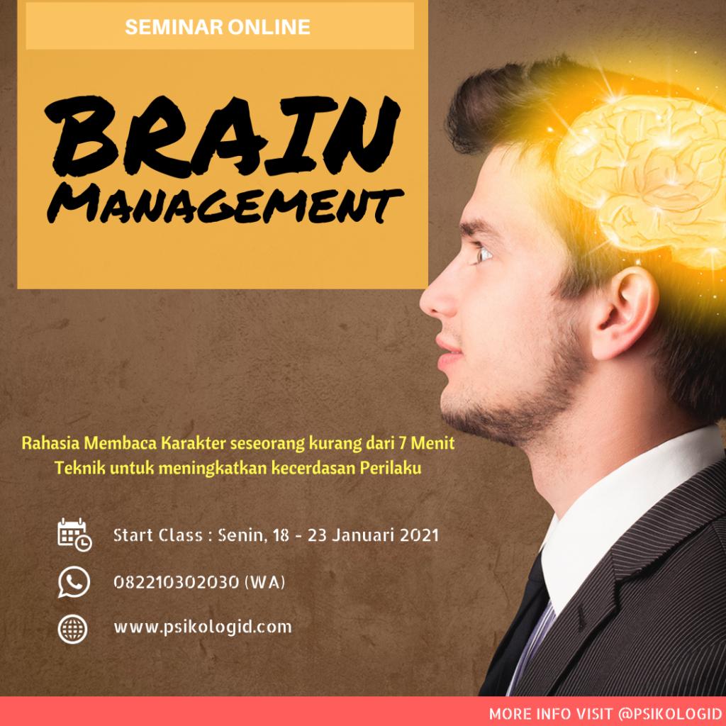seminar psikologi brain management