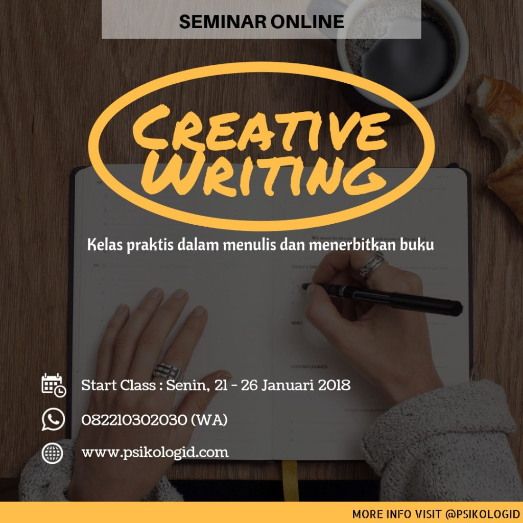 kelas online : creative writing
