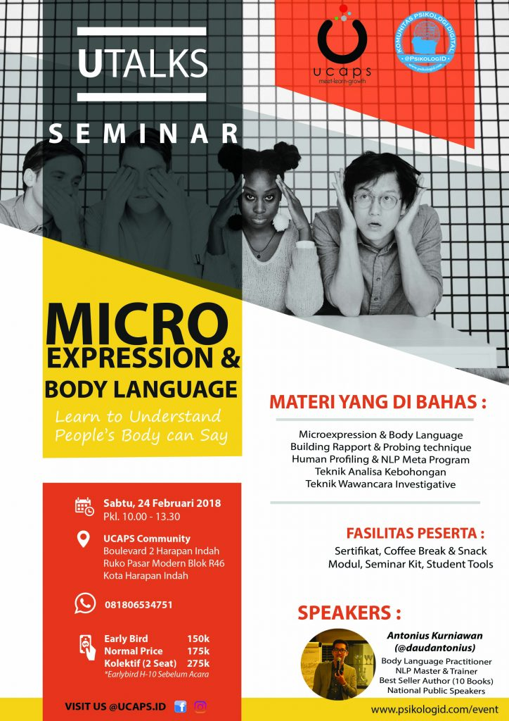 Seminar Microexpression & Body Language