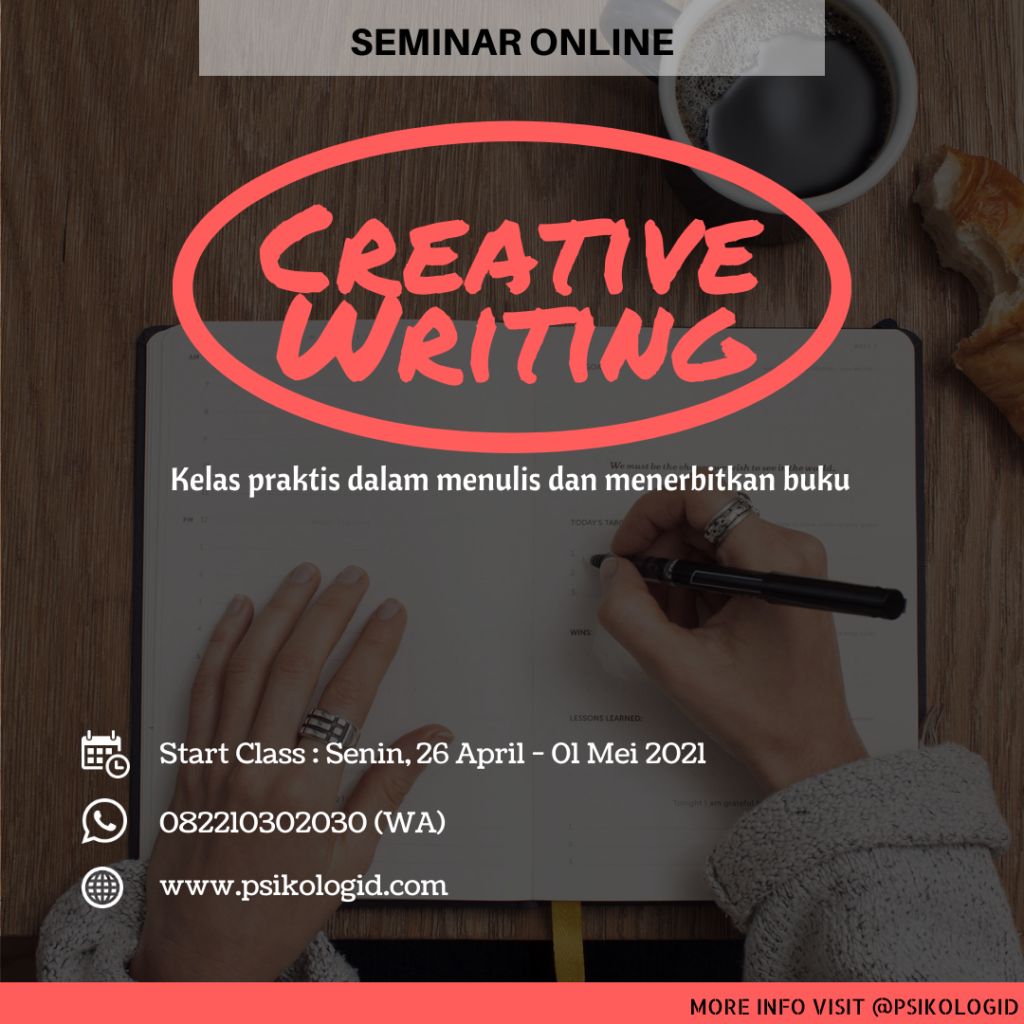 kelas menulis online, writing class, creative writing