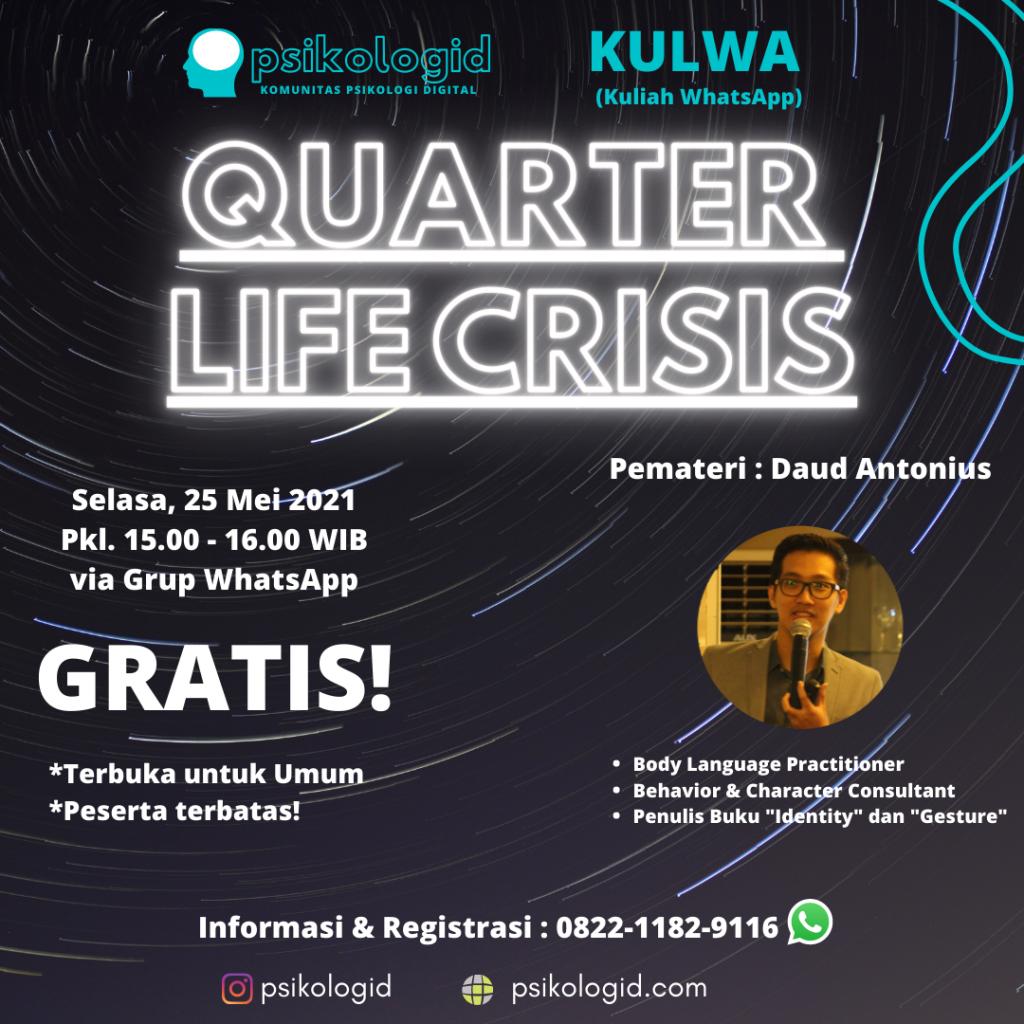 seminar psikologi : Quarter life crisis