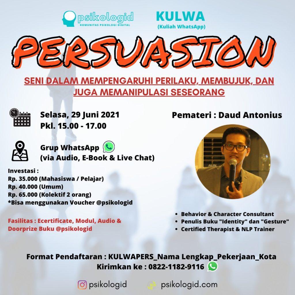 Kulwap Psikologi : Persuasion