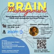 Kelas Zoom Psikologi : Brain Management