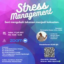 Kelas Zoom Psikologi : Stress Management