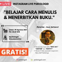 Live Instagram : Belajar menulis dan menerbitkan buku