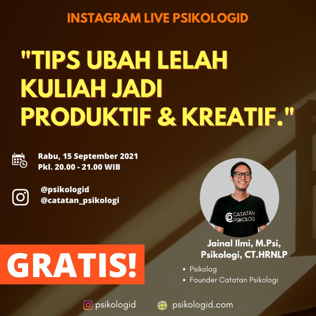 live instagram psikologi